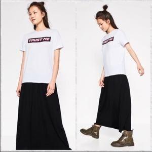 Zara T Shirt Maxi Dress Trust Me